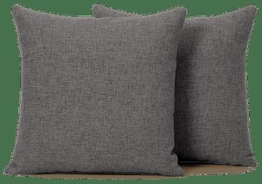 decorative knife edge pillows %28set 2%29 taylor felt grey