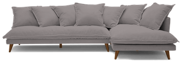 denna sectional taylor felt grey