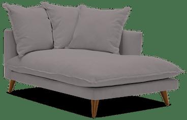 denna single arm chaise taylor felt grey