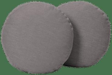 decorative round pillows %28set 2%29 taylor felt grey