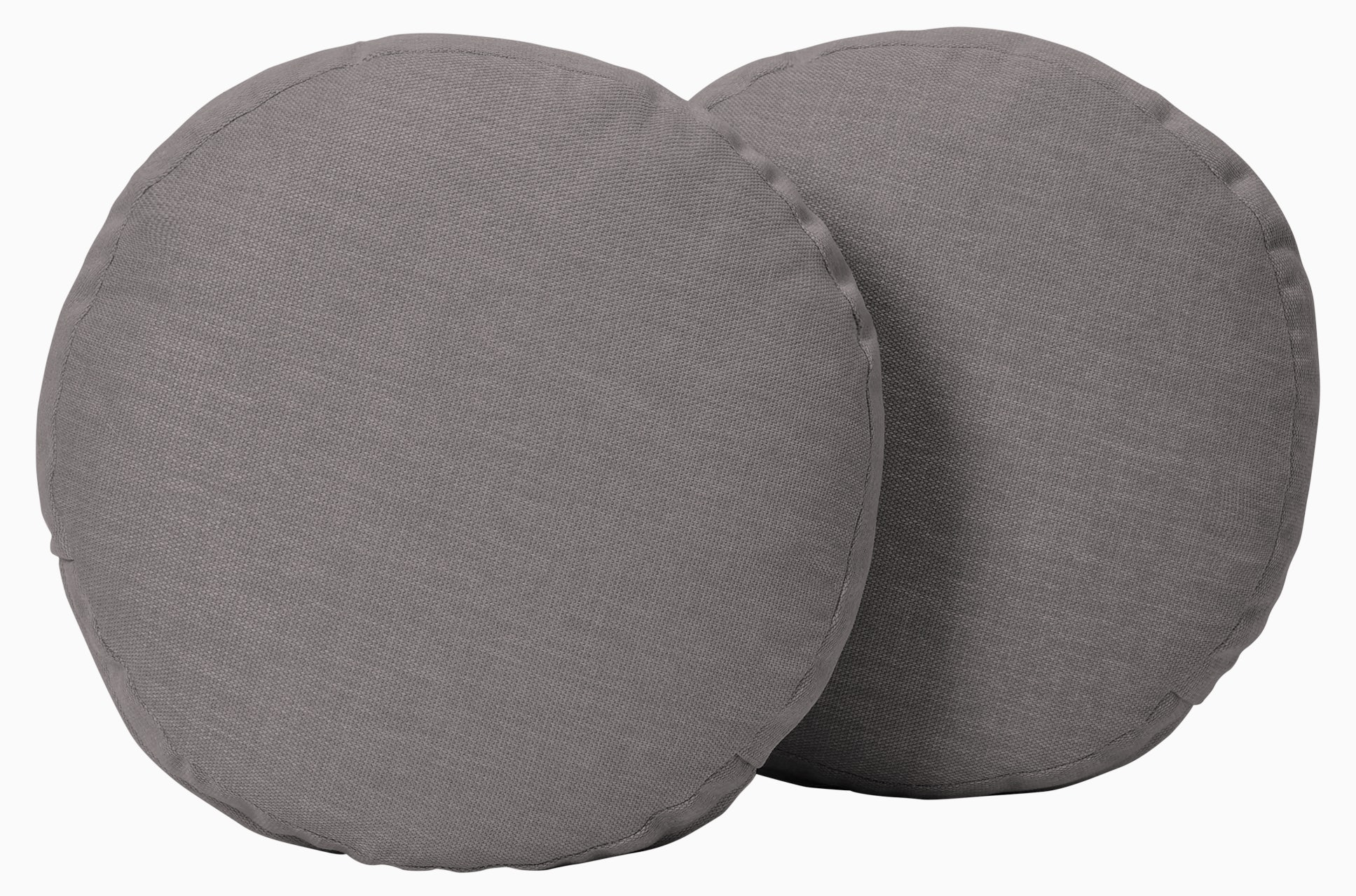 decorative round pillows %28set 2%29 taylor felt grey