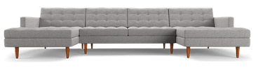 eliot chaise sectional %283 piece%29 taylor felt grey