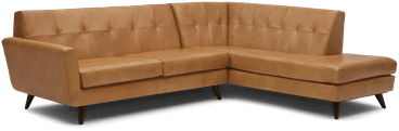 hughes leather sectional with bumper %282 piece%29 santiago camel