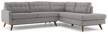 hopson sectional with bumper %282 piece%29 taylor felt grey