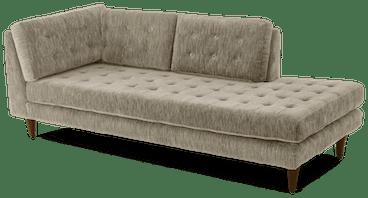 eliot bumper chaise taylor felt grey