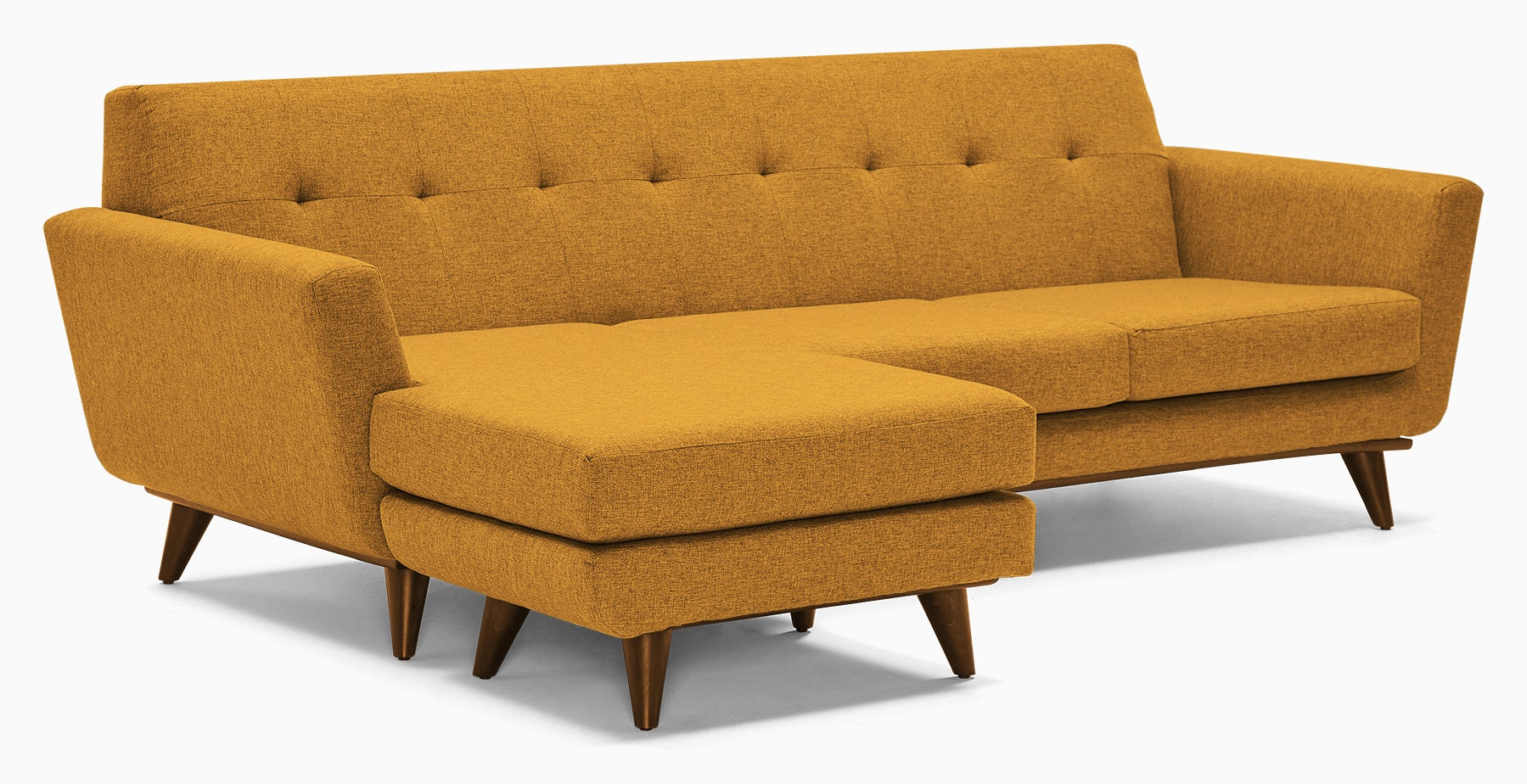 hughes reversible sectional cordova amber