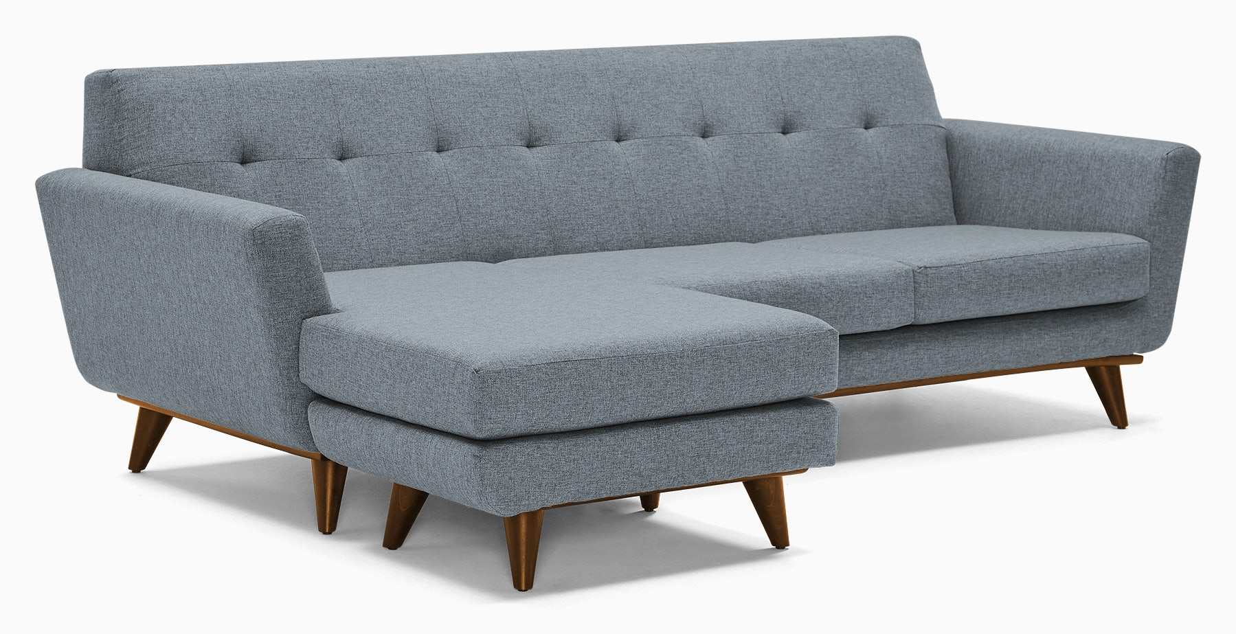 hughes reversible sectional synergy pewter