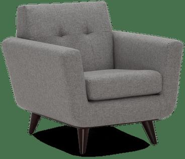 hughes apartment chair taylor felt grey