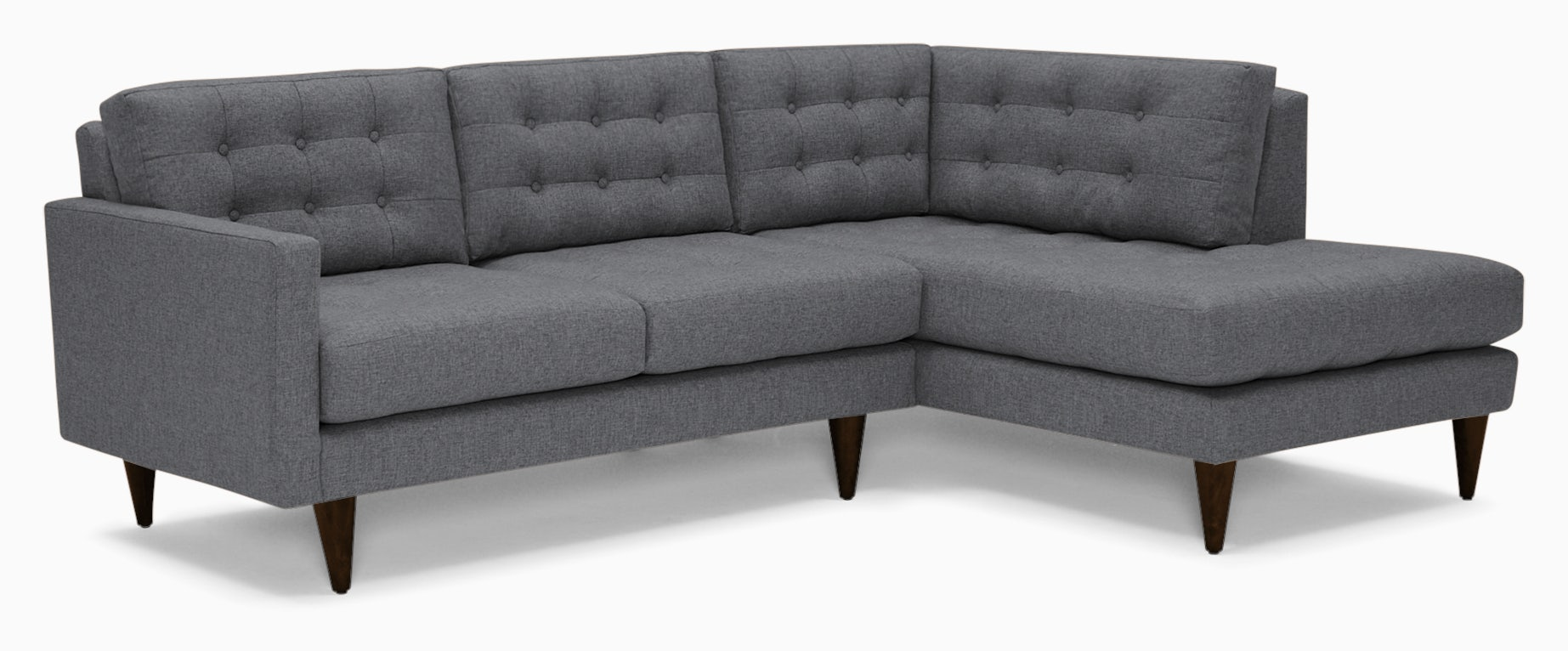 eliot apartment sectional with bumper essence ash