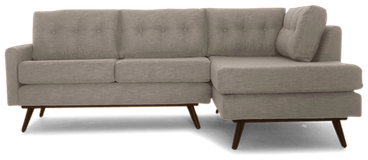 hopson apartment sectional with bumper taylor felt grey
