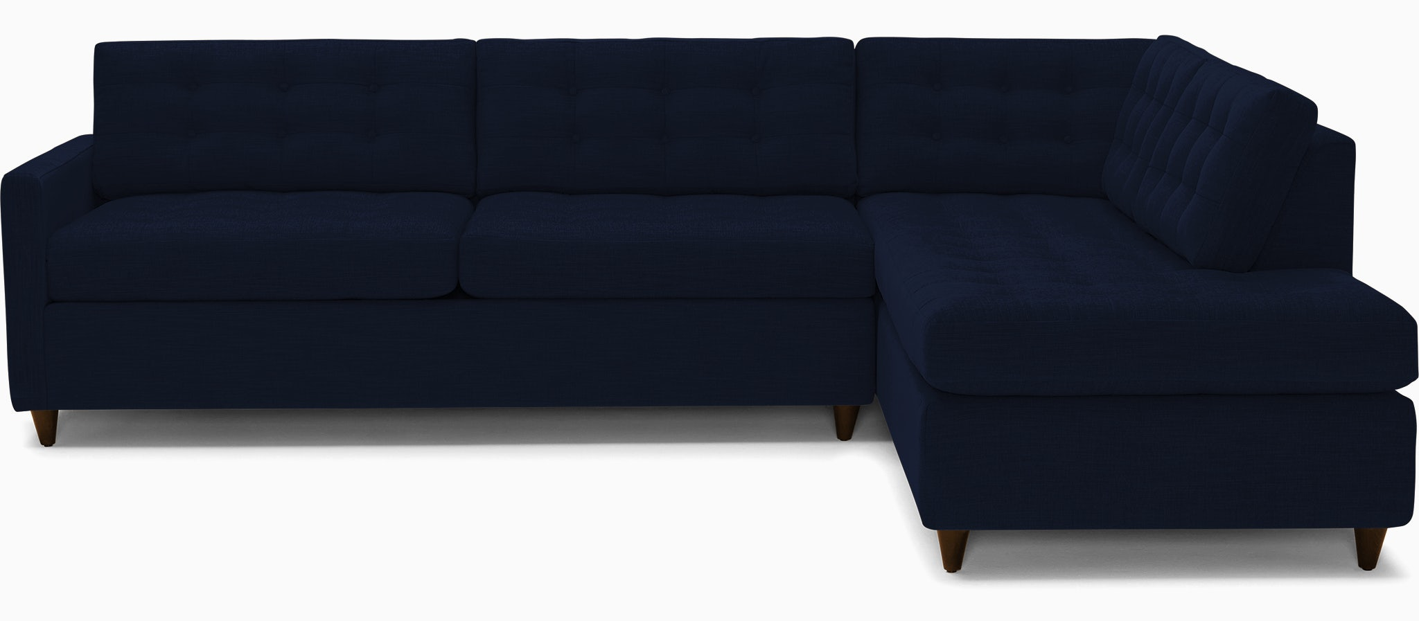 eliot bumper sleeper sectional bentley indigo