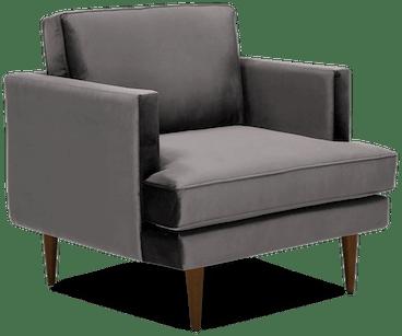 preston chair taylor felt grey