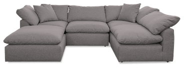 bryant sofa bumper sectional %285 piece%29 taylor felt grey