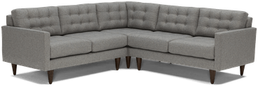 eliot apartment corner sectional %283 piece%29 taylor felt grey