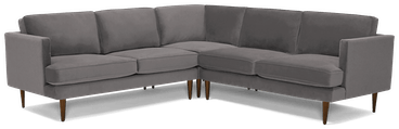 preston corner sectional %283 piece%29 taylor felt grey