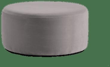 hanna ottoman taylor felt grey