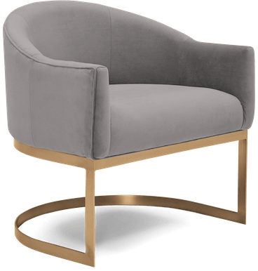 jolie accent chair taylor felt grey