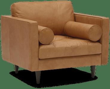 briar leather chair santiago camel