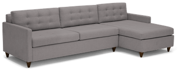 eliot sleeper sectional with storage taylor felt grey