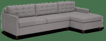eliot sleeper sectional with storage taylor felt grey