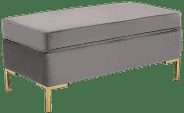 dee bench with storage taylor felt grey