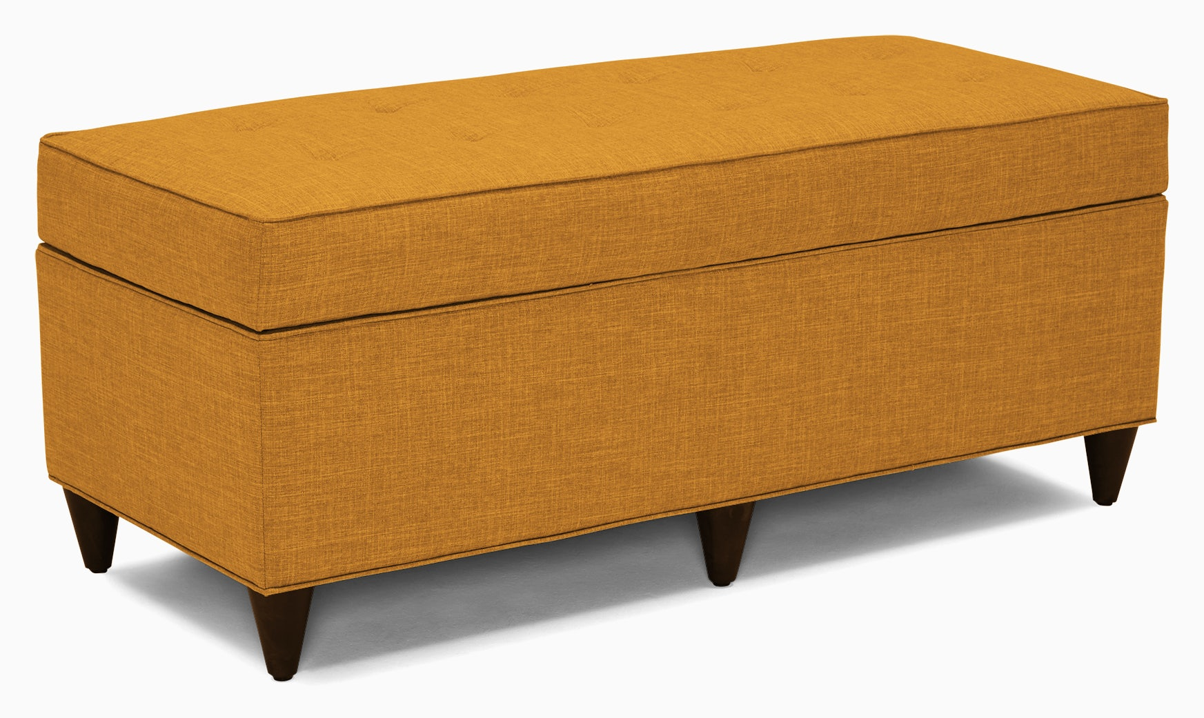 cammy bench with storage cordova amber