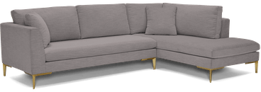 ainsley sectional with bumper %282 piece%29 taylor felt grey