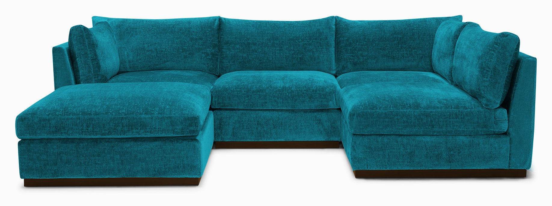 holt armless sofa sectional %285 piece%29 vibe aquatic