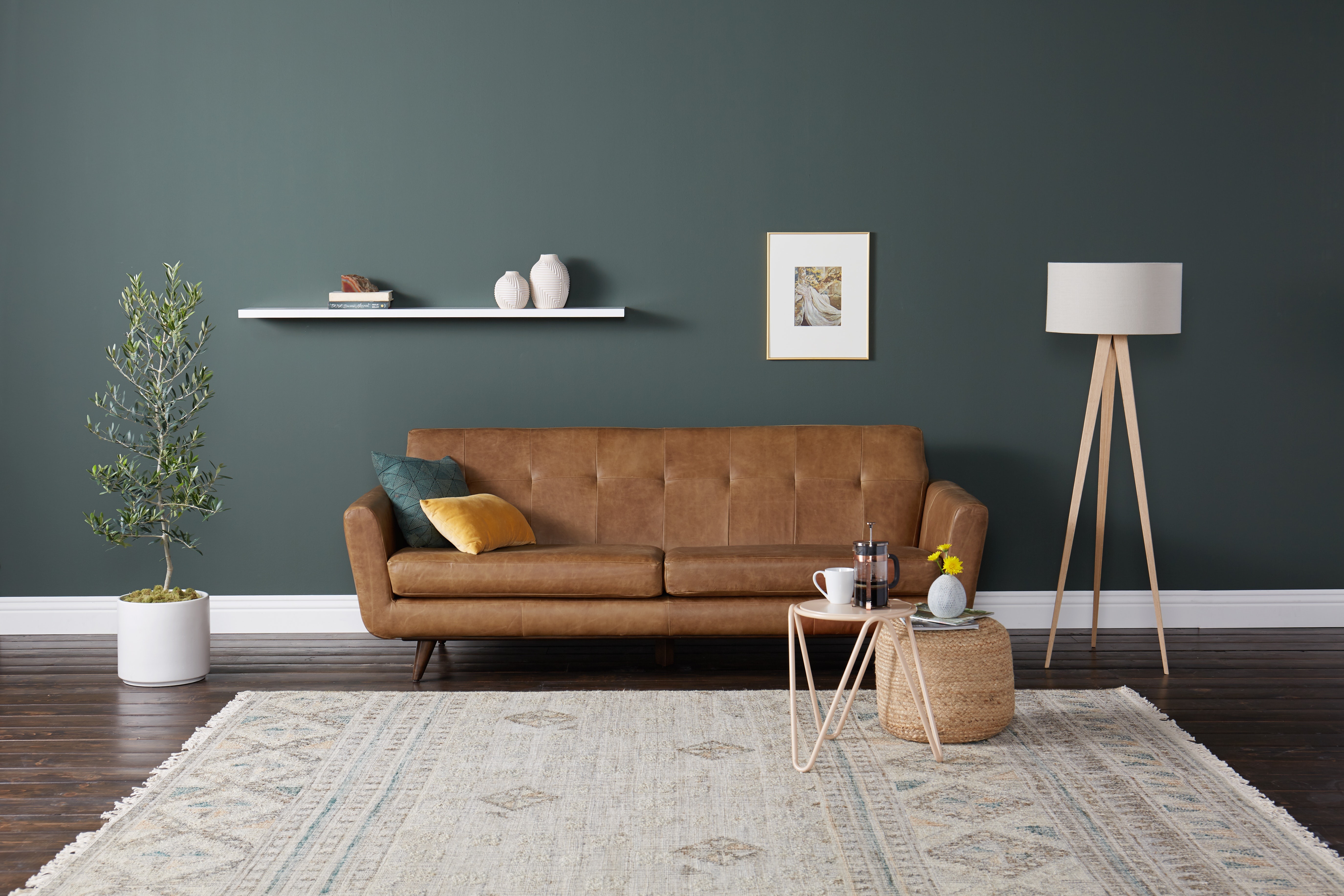 Hughes Leather Sofa Santiago Ale