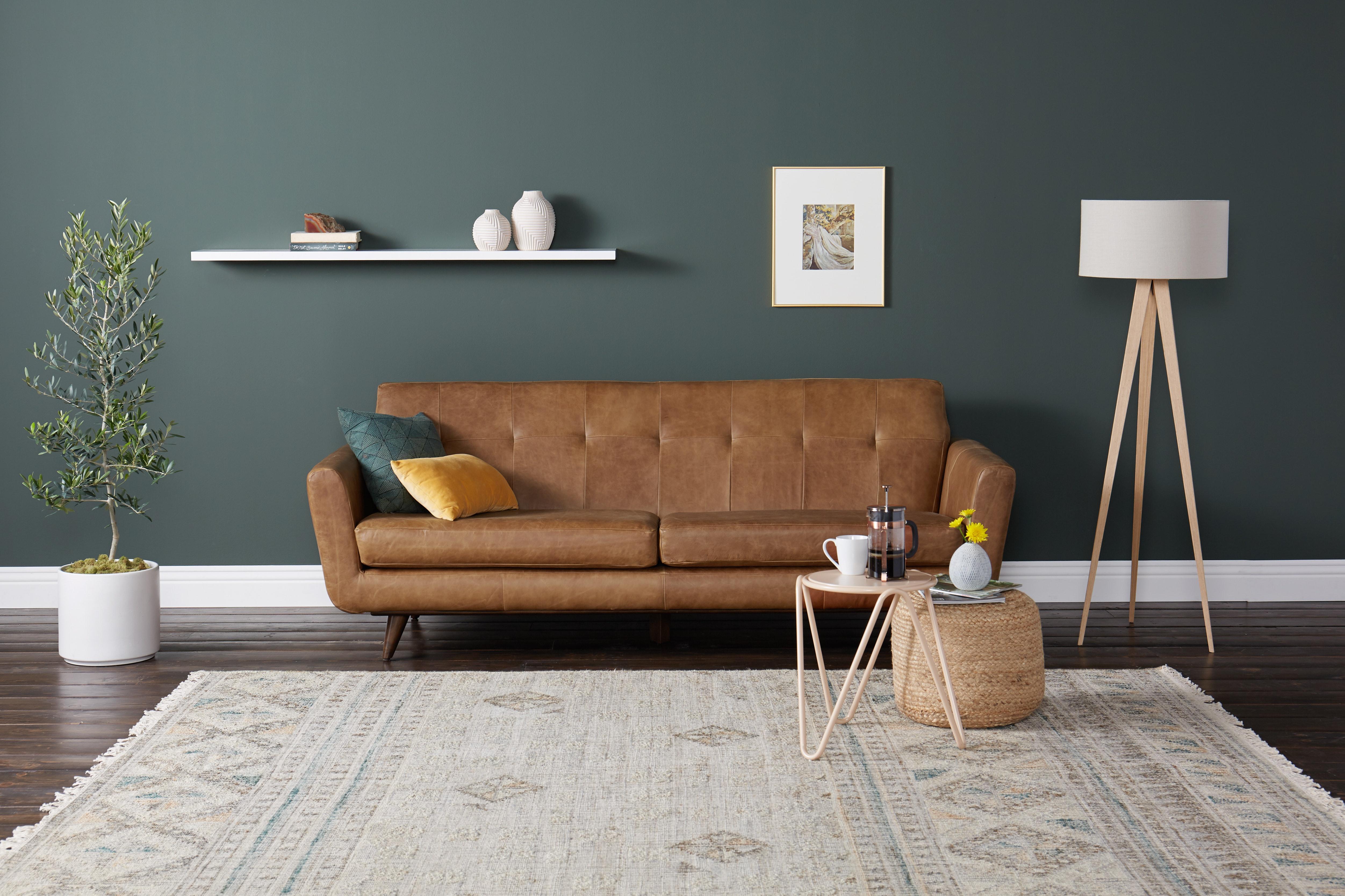 Hughes Leather Sofa Santiago Ale