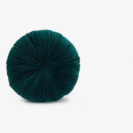 Minka Pleated Round Pillow Royale Peacock