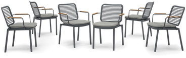 grey kinsey outdoor dining chair %28set 6%29