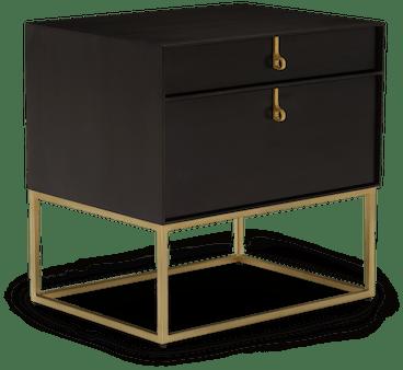black soho nightstand