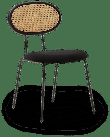 black calla dining chair