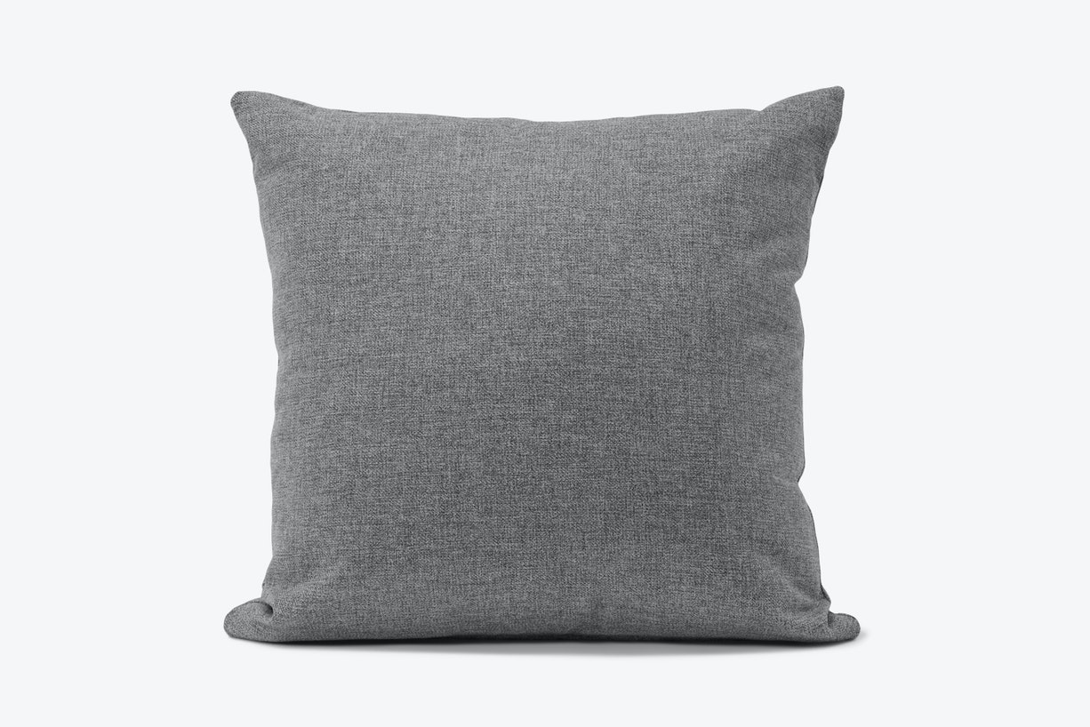 Decorative Knife Edge Pillow Taylor Felt Grey