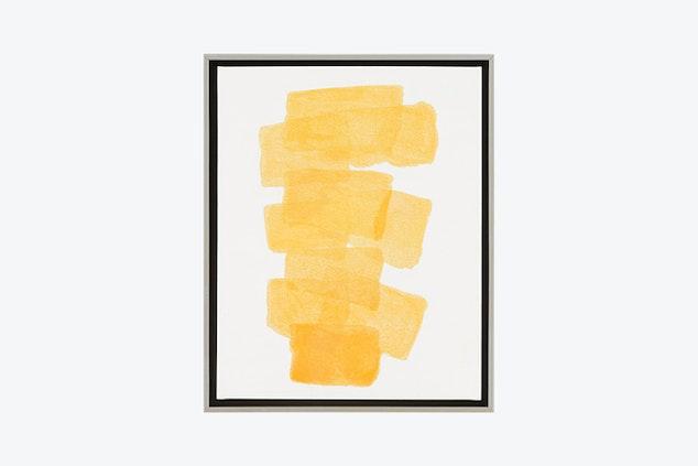 carolyn yellow wall art