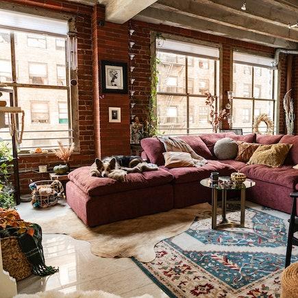 Holiday Brooklyn Loft Bryant Modular Milo Burgundy