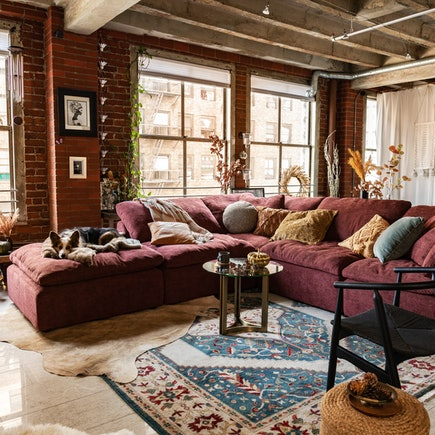 Holiday Brooklyn Loft Bryant Modular Milo Burgundy
