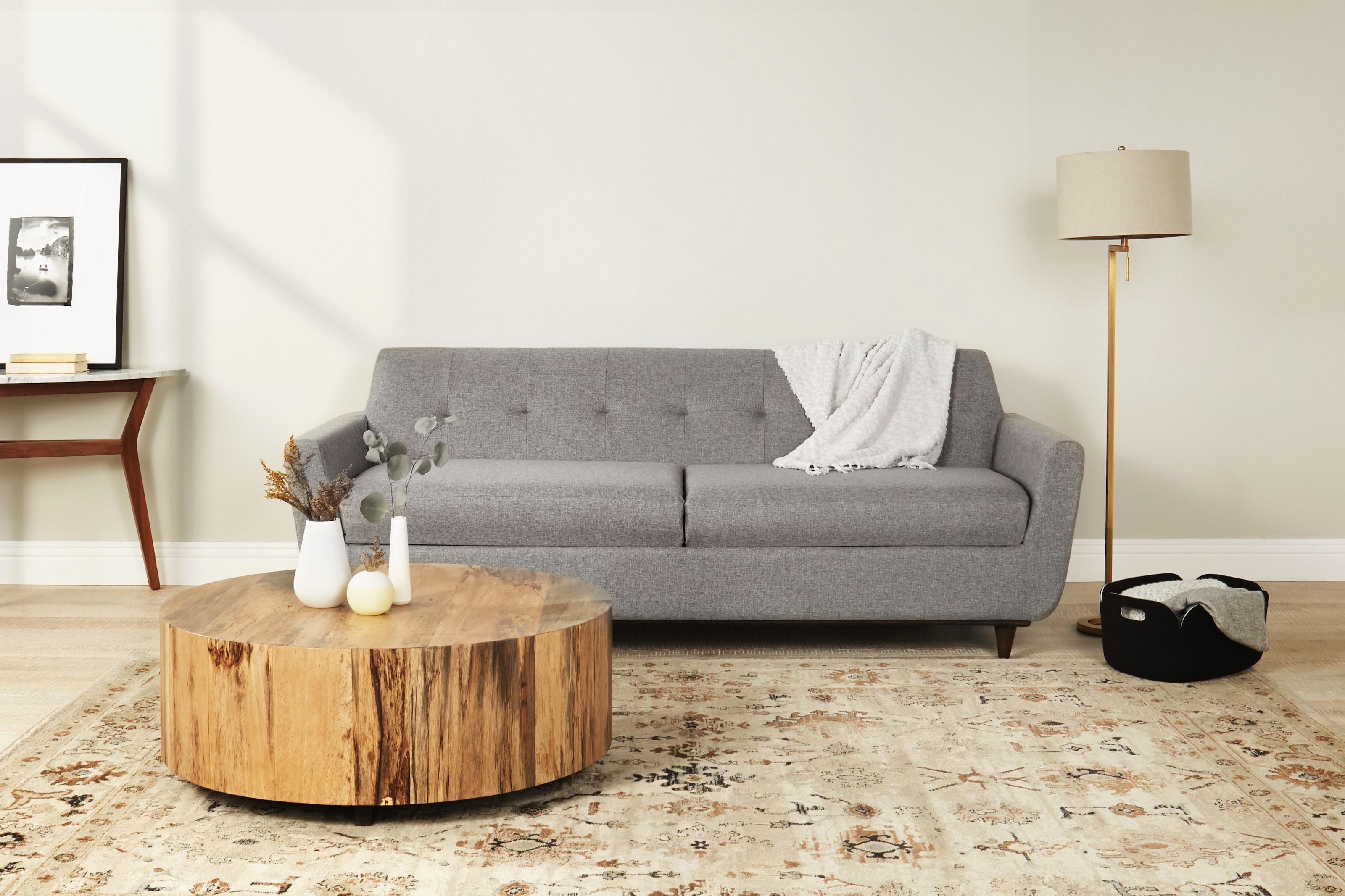Hughes Storage Sofa Taylor Felt Grey