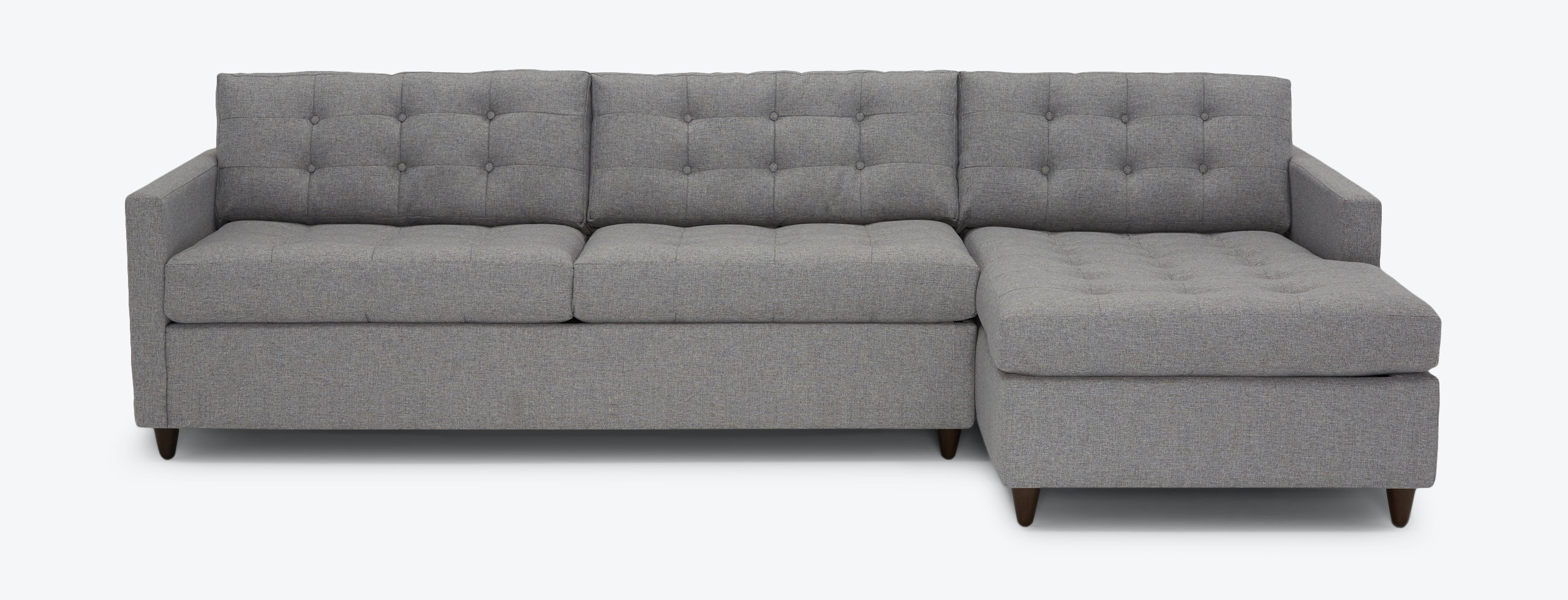 Elliot Sleeper Sectional Storage Taylor Felt Grey