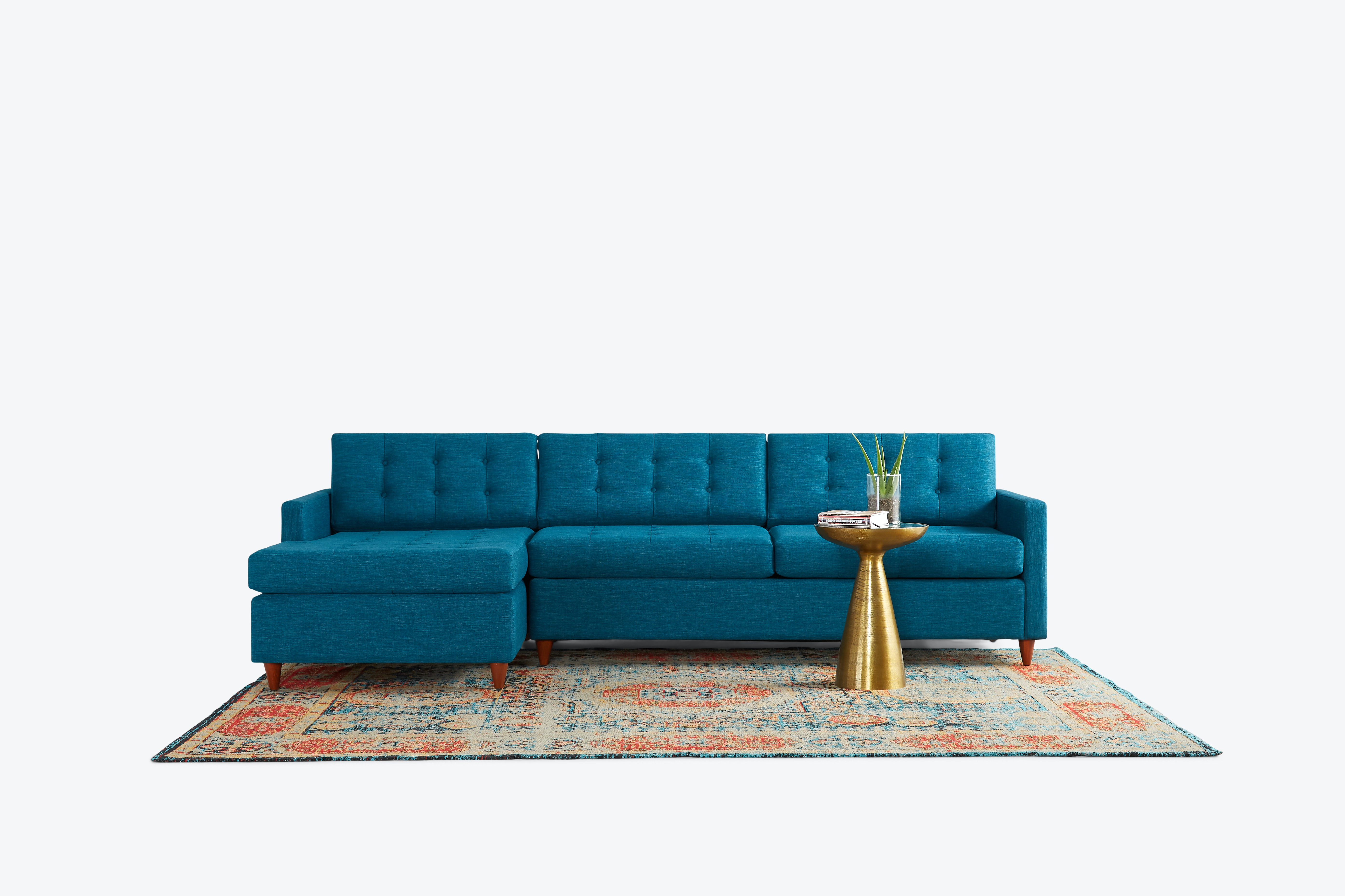 Eliot Sleeper Sectional Zenith Teal