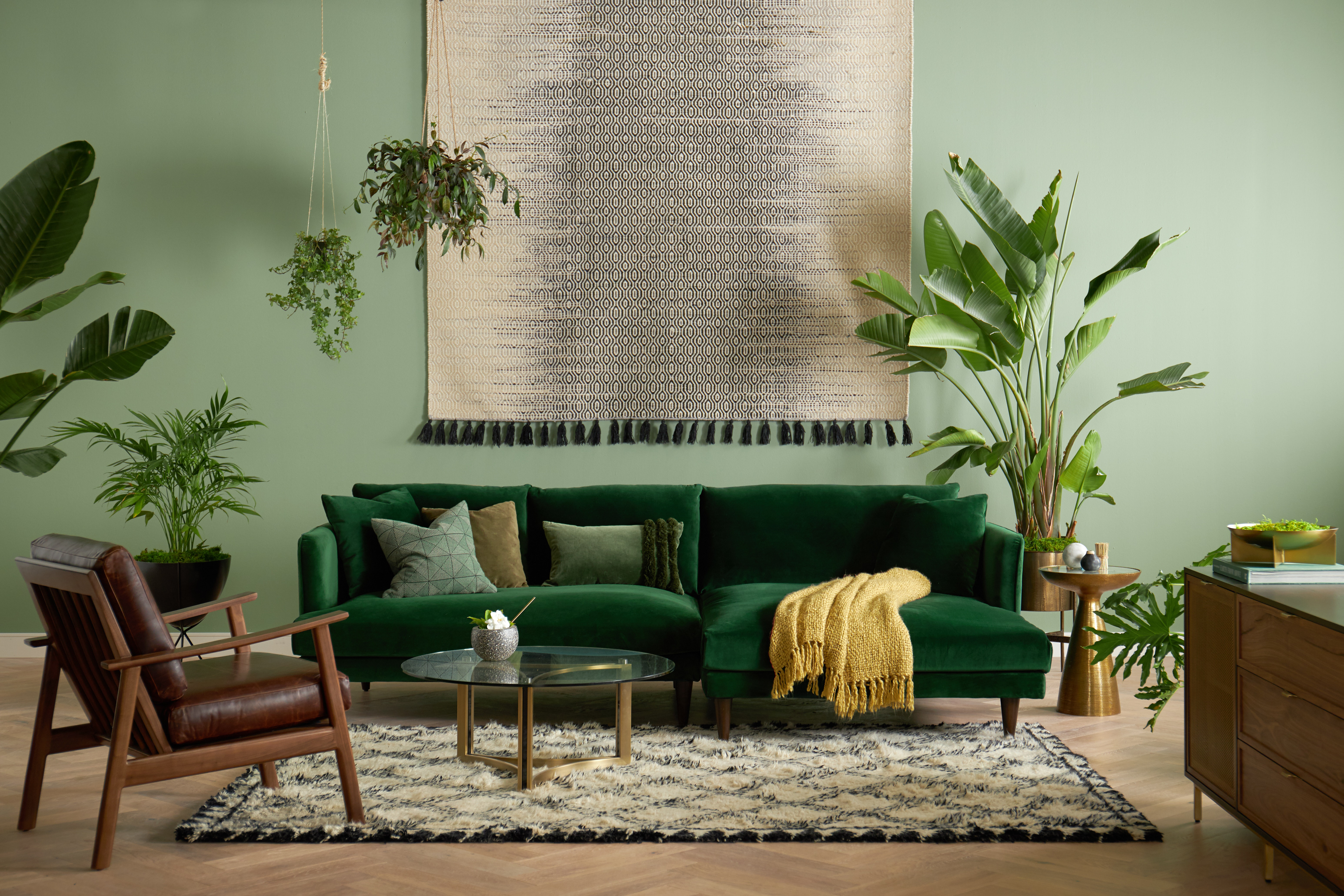 Lewis Sectional Royale Evergreen